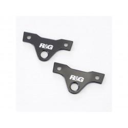 Platines pour sangles R&G RACING noir Honda Africa Twin Adventure Sport