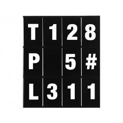 Kit chiffres et lettres LIGHTECH pour panneautage