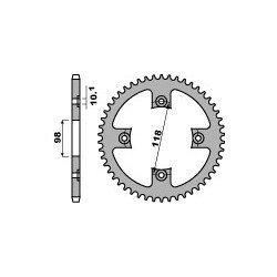 Couronne B1 39 dents acier standard pas 520 type L17-T