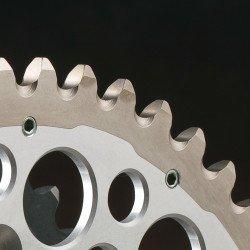 Couronne RENTHAL Twinring® 50 dents Ultra-light anti-boue anodisé dur pas 520 type 2240 orange
