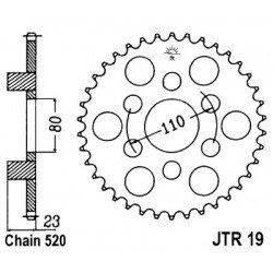 Couronne JT SPROCKETS 36 dents acier standard pas 520 type 19