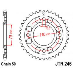 Couronne JT SPROCKETS 35 dents acier standard pas 530 type 246