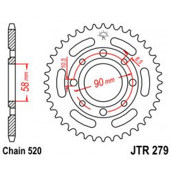 Couronne JT SPROCKETS 32 dents acier standard pas 520 type 279