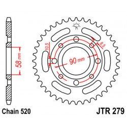 Couronne JT SPROCKETS 33 dents acier standard pas 520 type 279
