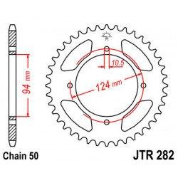 Couronne JT SPROCKETS 34 dents acier standard pas 530 type 282