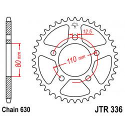 Couronne JT SPROCKETS 35 dents acier standard pas 630 type 336