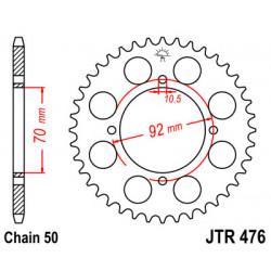 Couronne JT SPROCKETS 35 dents acier standard pas 530 type 476