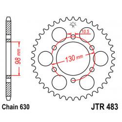 Couronne JT SPROCKETS 33 dents acier standard pas 630 type 483