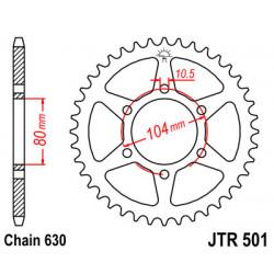 Couronne JT SPROCKETS 34 dents acier standard pas 630 type 501
