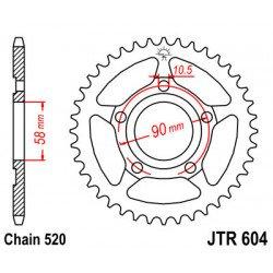 Couronne JT SPROCKETS 36 dents acier standard pas 520 type 604