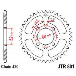 Couronne JT SPROCKETS 37 dents acier standard pas 420 type 801