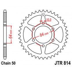 Couronne JT SPROCKETS 33 dents acier standard pas 530 type 814