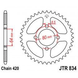 Couronne JT SPROCKETS 32 dents acier standard pas 420 type 834