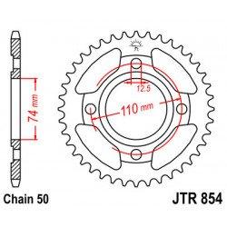 Couronne JT SPROCKETS 36 dents acier standard pas 530 type 854