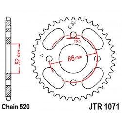 Couronne JT SPROCKETS 30 dents acier standard pas 520 type 1071