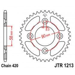 Couronne JT SPROCKETS 37 dents acier standard pas 420 type 1213