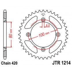 Couronne JT SPROCKETS 36 dents acier standard pas 420 type 1214