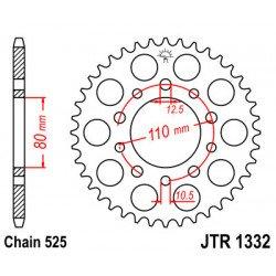 Couronne JT SPROCKETS 36 dents acier standard pas 525 type 1332