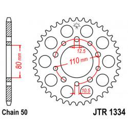 Couronne JT SPROCKETS 36 dents acier standard pas 530 type 1334