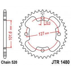 Couronne JT SPROCKETS 37 dents acier standard pas 520 type 1480