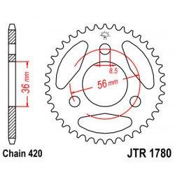 Couronne JT SPROCKETS 28 dents acier standard pas 420 type 1780