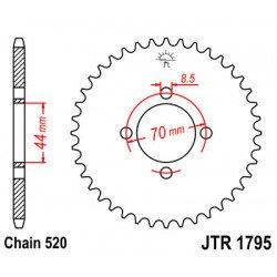 Couronne JT SPROCKETS 22 dents acier standard pas 520 type 1795