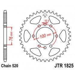 Couronne JT SPROCKETS 37 dents acier standard pas 520 type 1825