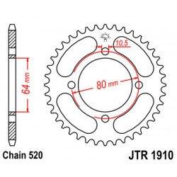 Couronne JT SPROCKETS 32 dents acier standard pas 520 type 1910