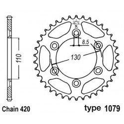 Couronne B1 62 dents acier standard pas 420 type 1079