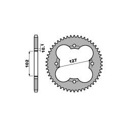 Couronne PBR 37 dents acier standard pas 520 type 4480