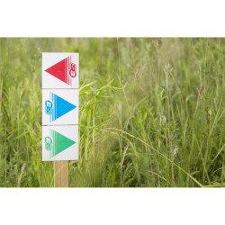 Flèches de signalisation S3 vert 50 pièces 12x12cm