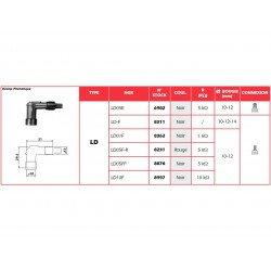 Anti-parasite NGK LD05F-R rouge pour bougie sans olive