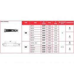 Anti-parasite NGK SD05F-R rouge pour bougie sans olive