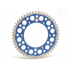 Couronne RENTHAL Twinring® 50 dents Ultra-light anti-boue anodisé dur pas 520 type 2240 bleu