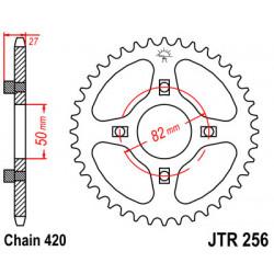 Couronne JT SPROCKETS 35 dents acier standard pas 420 type 256