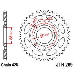 Couronne JT SPROCKETS 34 dents acier standard pas 428 type 269