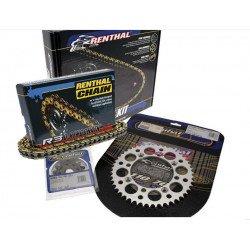 Kit chaîne RENTHAL 520 type R3-2 13/50 (couronne Ultralight™ anti-boue) Kawasaki KX450F/KLX450R
