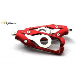 Tendeur de chaine LIGHTECH rouge Kawasaki ZX6R - TEKA005ROS