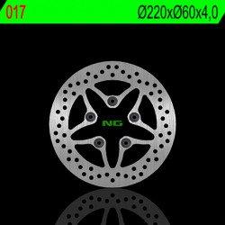 Disque de frein NG 017 rond fixe