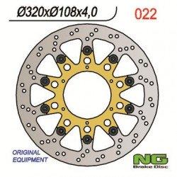 Disque de frein NG 022 rond flottant