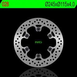 Disque de frein NG 028 rond fixe