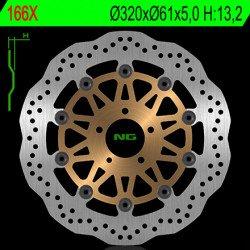 Disque de frein NG 166X pétale flottant