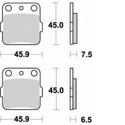 Plaquettes de frein BRAKING 686CM44 métal fritté
