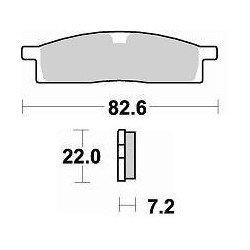 Plaquettes de frein BRAKING 705CM44 métal fritté