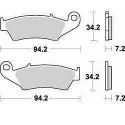 Plaquettes de frein BRAKING 772CM44 métal fritté