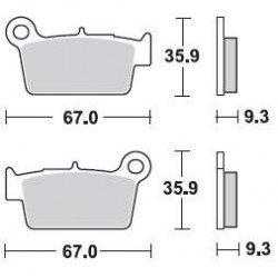 Plaquettes de frein BRAKING 890CM44 métal fritté