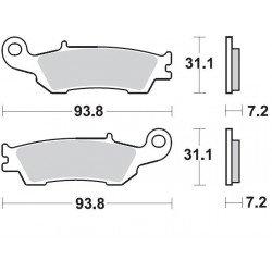 Plaquettes de frein BRAKING 929CM44 métal fritté Yamaha
