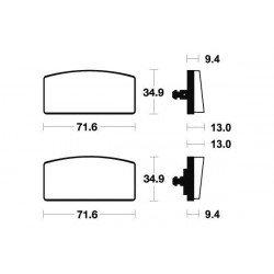 Plaquettes de frein TECNIUM MA20 organique