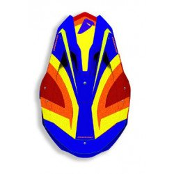 Casque UFO Diamond bleu/jaune/orange taille XL