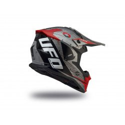Casque UFO Intrepid gris/rouge taille XS